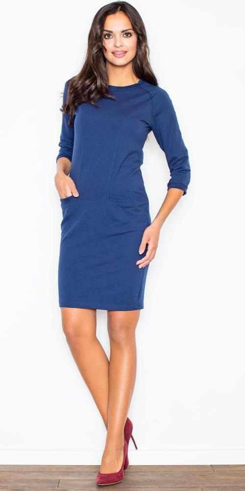 Granatowa-sukienka